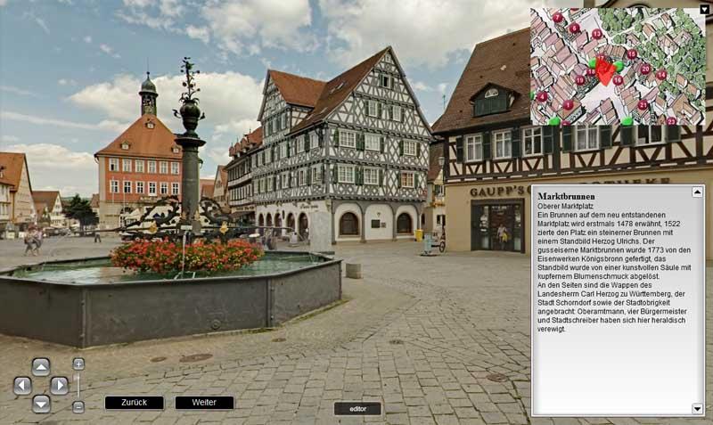 virtueller Rundgang durch Schorndorf